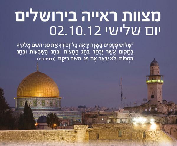 מצוות ראייה בירושלים - 2012