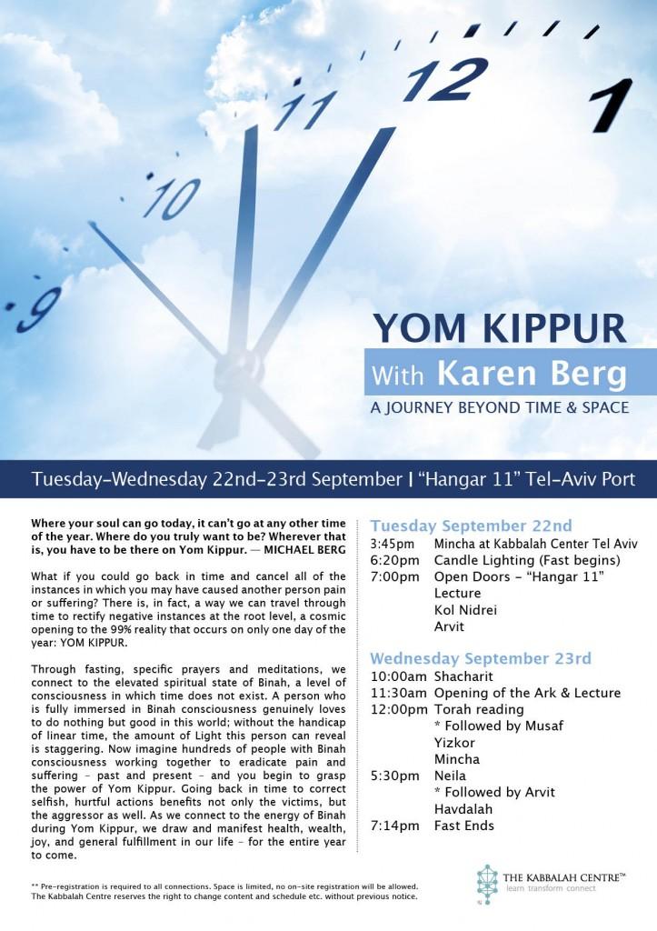 Yom KIippur 2015 Schedule