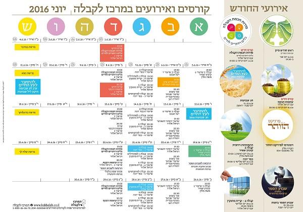 לוח קורסים ואירועים – המרכז לקבלה חיפה – אוגוסט 2016
