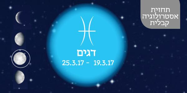 תחזית אסטרולוגיה קבלית 25.3.17 - 19.3.17 / יעל ירדני